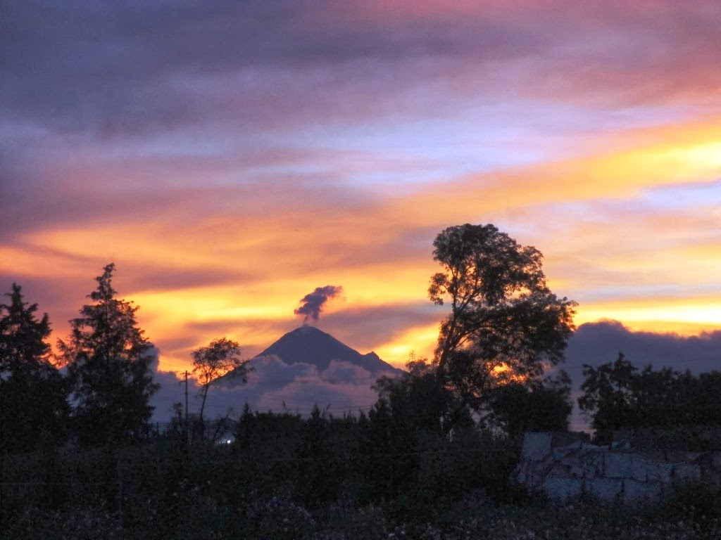 Semi active volcano