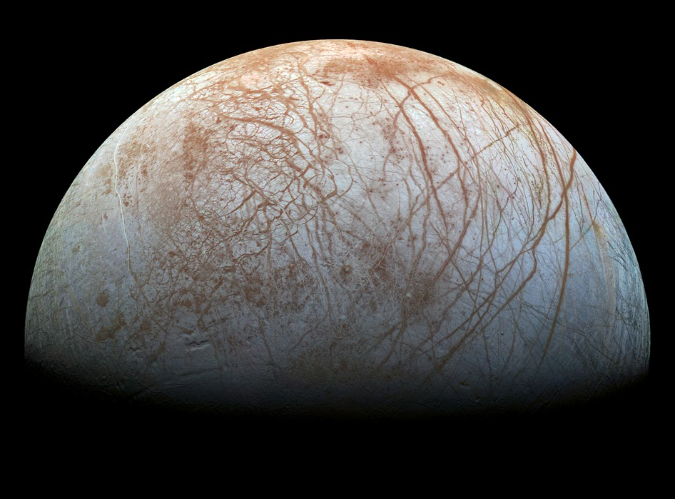 Lua Europa, de Júpiter