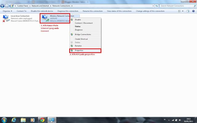 """Klik """"Internet Protocol Version 4"""" (Klik di namanya bukan di"""