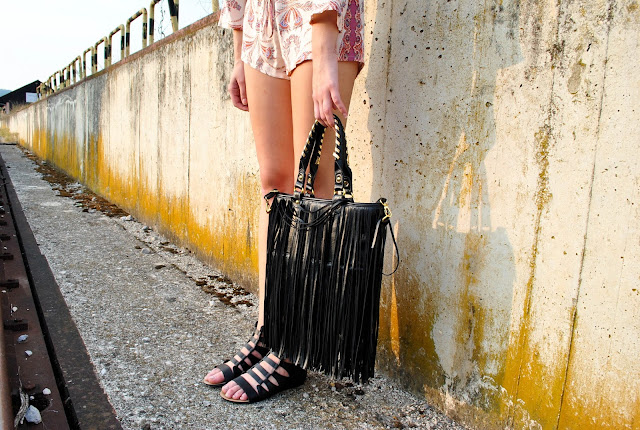 fringe bag, chicnova fringe bag, chicnova, overall, jumpsuit, boho jumpsuit, zara jumpsuit, zara romper, fashion romper