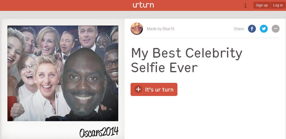inserire foto in selfie oscar