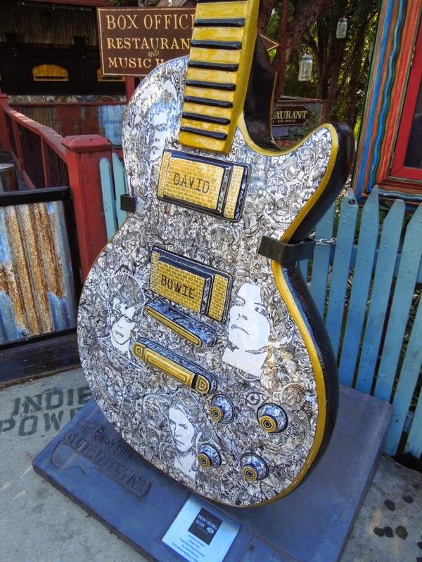David Bowie GuitarTown tribute sculpture