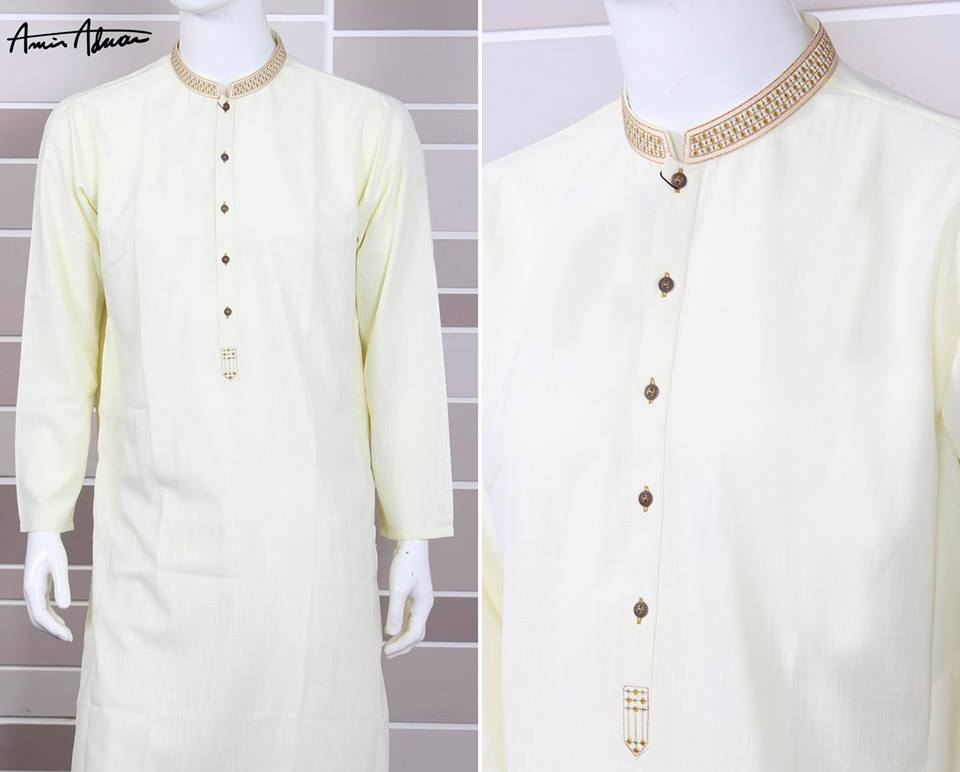 Amir Adnan Men39s Kurta Designs 20152016  Eid Salwar Suit