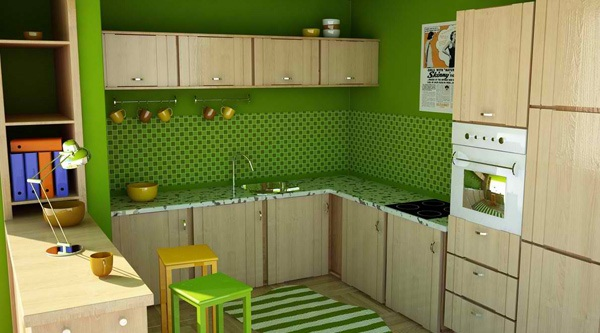 20 dapur cantik minimalis bertema hijau