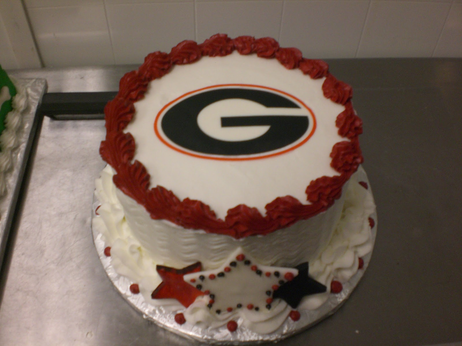 Georgia Bulldog Cake Decorations