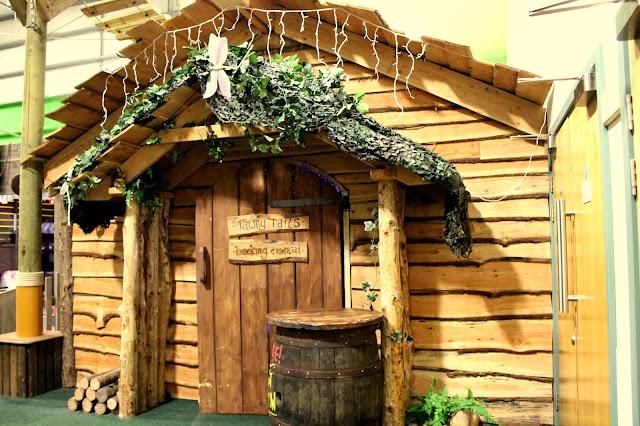 wooden hut in bluestone wales adventure centre