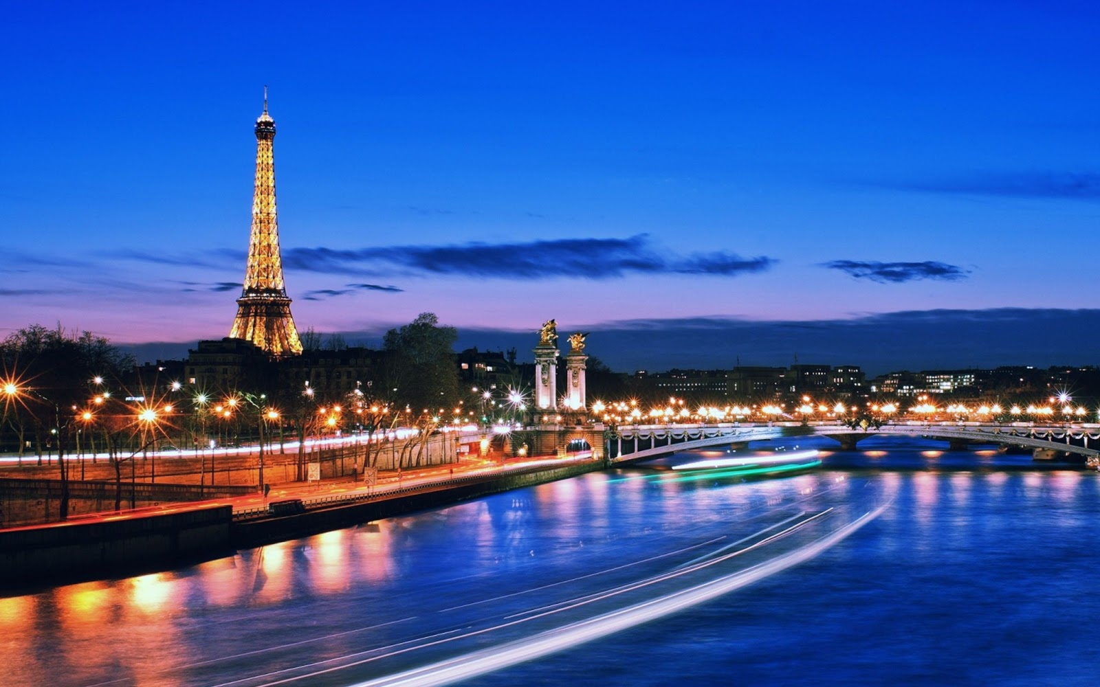 Bridge Of Alexander With Lights France Paris With