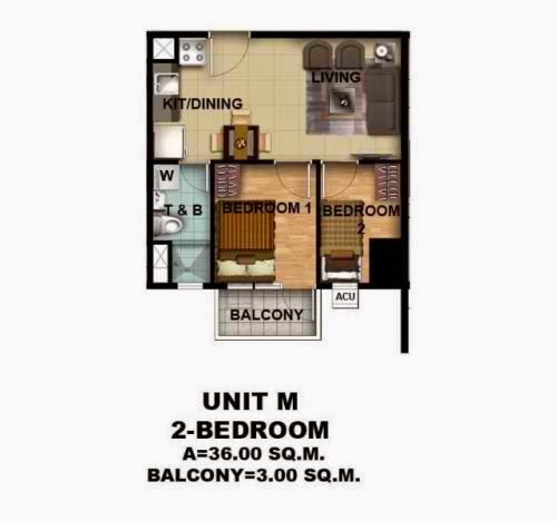 Asmara Condominium 2 Bedroom Unit With Balcony