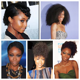Natural hair inspiration: Yaya Dacosta