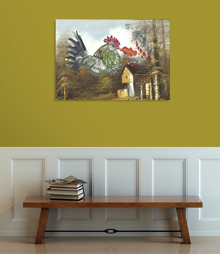 fire breathing chicken 2015 shoshanah marohn hallway