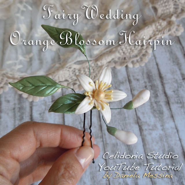 Fairy Wedding, Forcina con il Fiore d'Arancio - Tutorial di Celidonia Studio