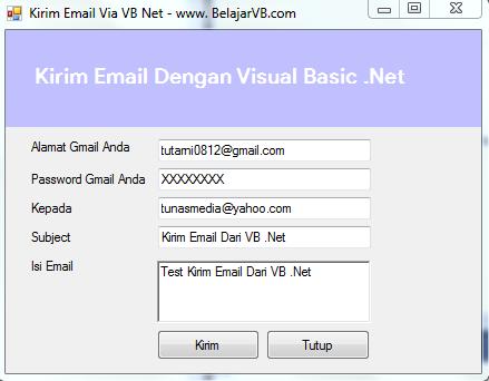 Membuat Aplikasi Kirim Email Dengan VB .Net - www.belajarvb.com