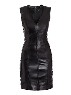 Alexander McQueen black leather dress