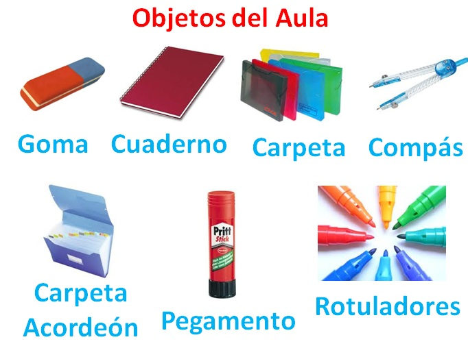 Cambiando ideas sobre la ense anza del espa ol objetos for 10 objetos del salon de clases en ingles