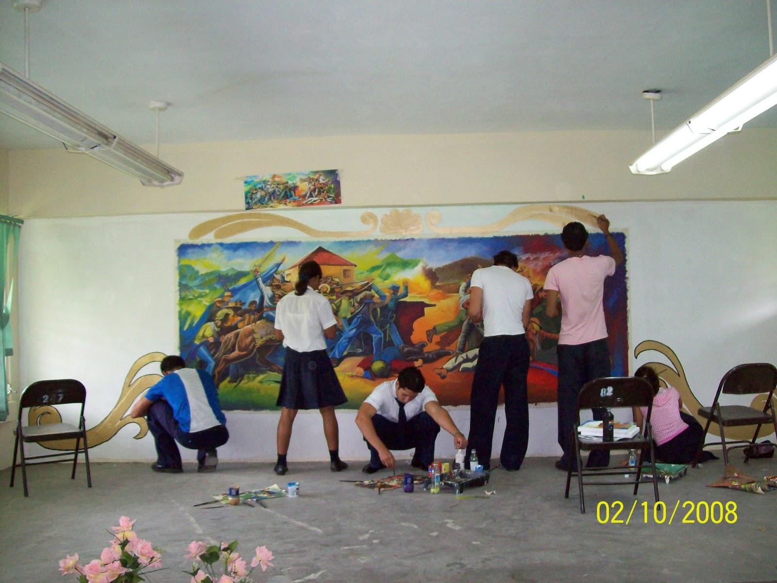 Javier espinal mural colectivo batalla de la trinidad for Arte colectivo mural