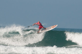 Stand up surfing. Newquay Cornwall