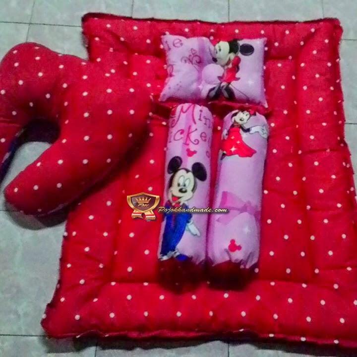 Kasur Bayi + Bansui Handmade Motif Dottie jogja Pojokhandmade Babystuff