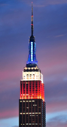 Color Of Empire State Building Schedule
