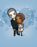 love theme, chibi couple, chibi couple with a kid