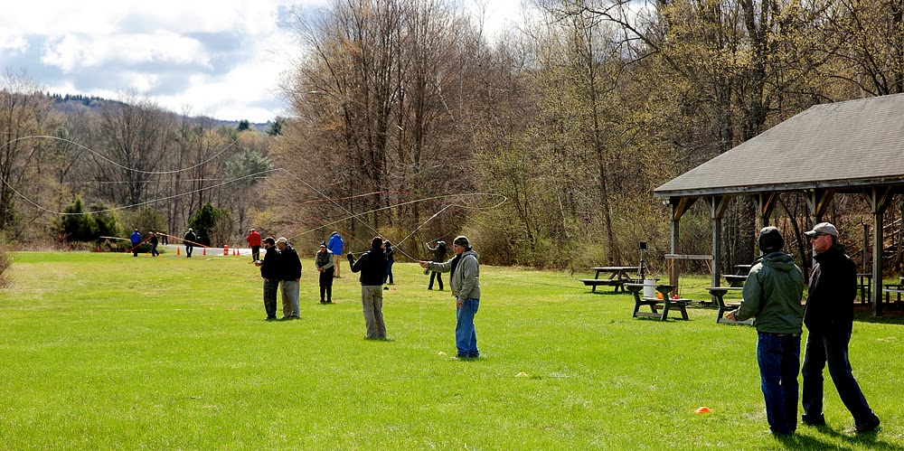 Wild Trout Flyrodders Casting rendezvous: Fly casting round robin at the Catskills Fly Fishing Museum and Center