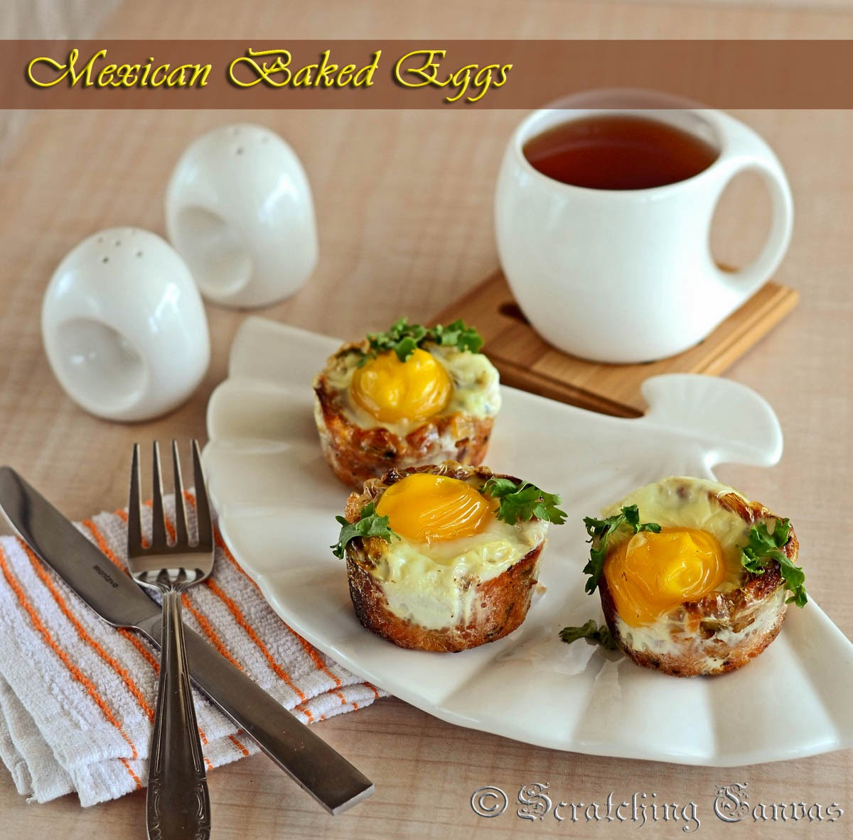 Baked Egg in Corn Cup