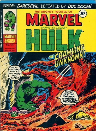 Mighty World of Marvel #134, Hulk vs Crawling Unknown