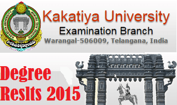 Kakatiya University KU Degree Results 2015