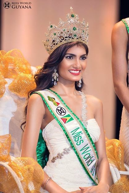 Miss World Guyana 2014 winner Rafieya Asieya Husain