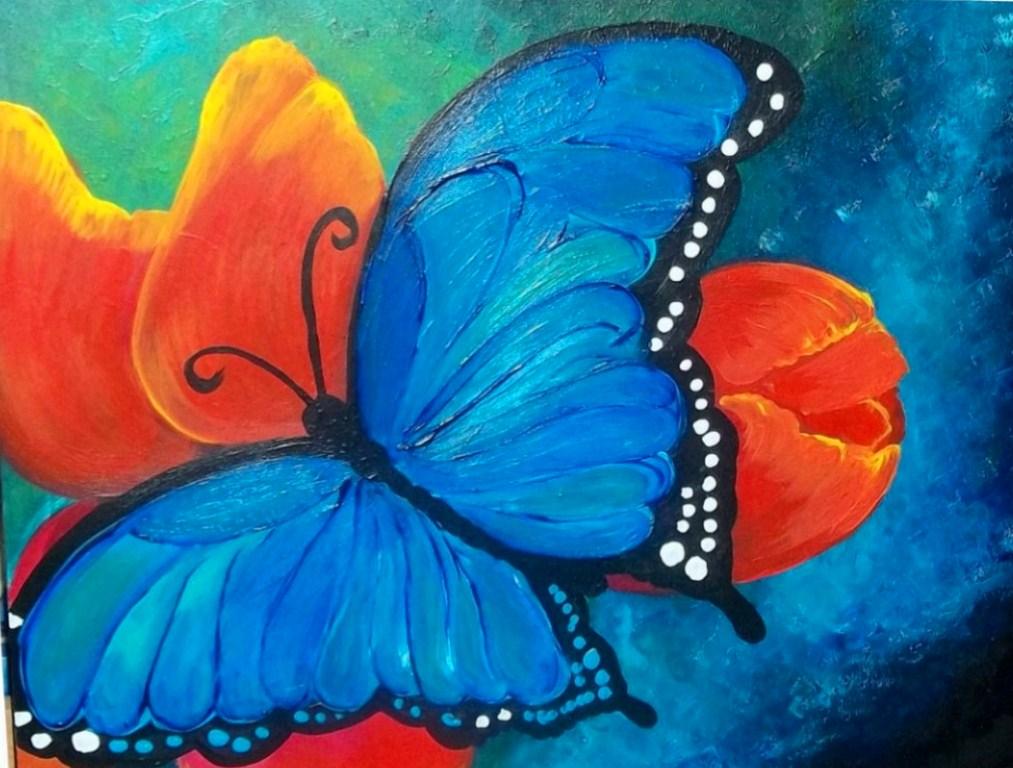 Pinturas de mariposas abstractas | El club del arte, pinturas