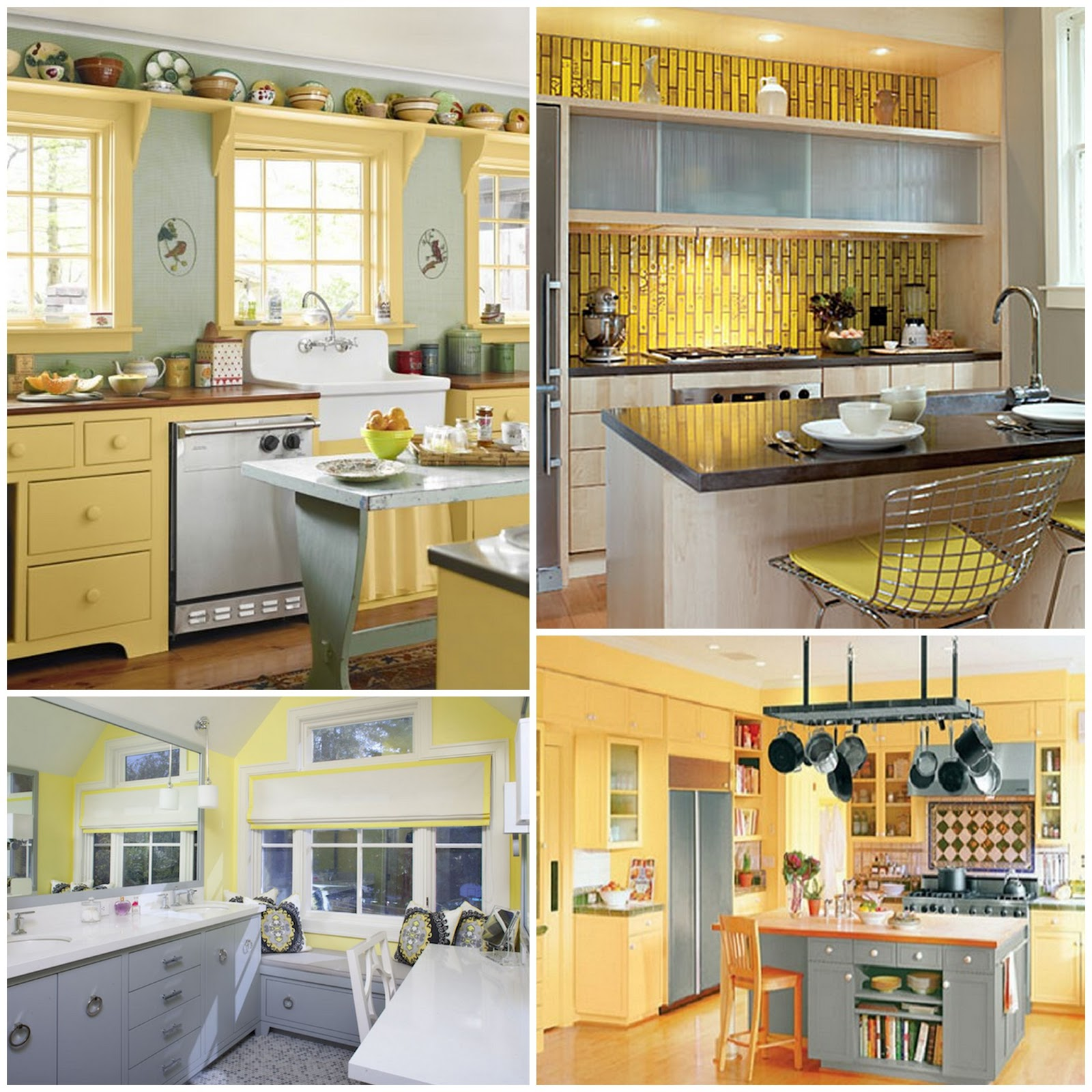 Kitchen Ideas With Yellow Walls: Passion, Pink, & Pearls: Becca's Yellow And Gray Kitchen