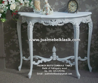 Supplier Indonesia classic furniture french style white painted french console table