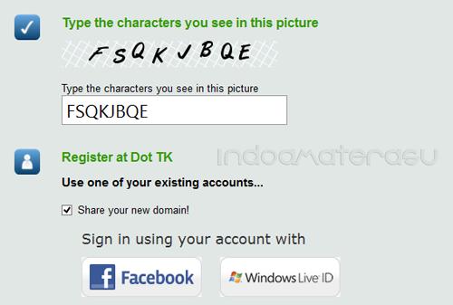 Cara Daftar Domain Dot.Tk 3