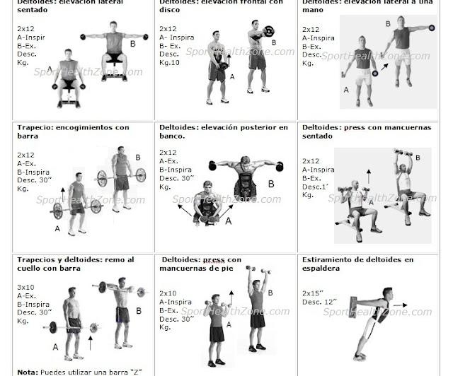 Entrenamiento fitness tabla de ejercicios for Gimnasio 9 y 57