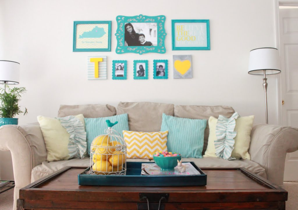 Apartment Decorating Ideas} Our Living Room Tour - Mirabelle Creations