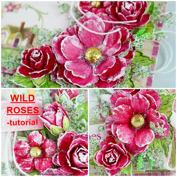 FLOWERS WILD ROSES-TUTORIAL