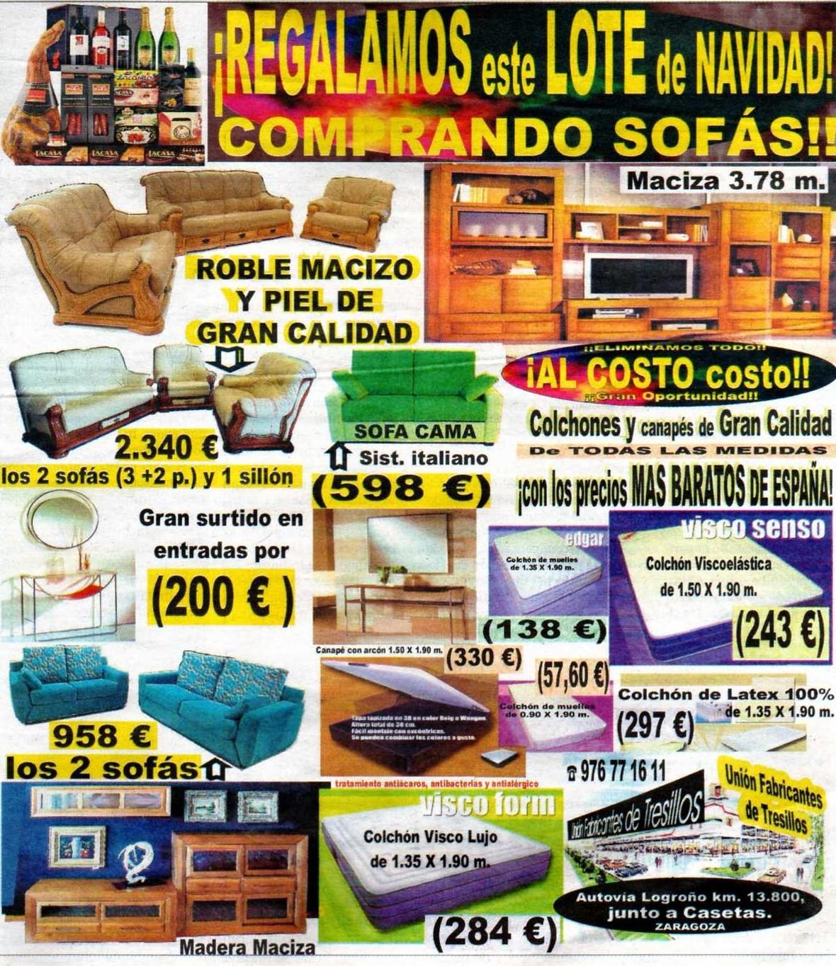 Uni n fabricantes de tresillos noviembre 2011 for Tresillos baratos