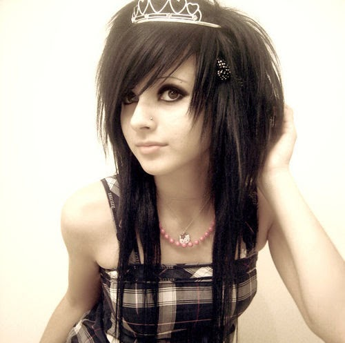 emo girl sexy hairstyle