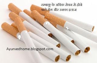 तम्बाकू खाने से होने वाले रोग