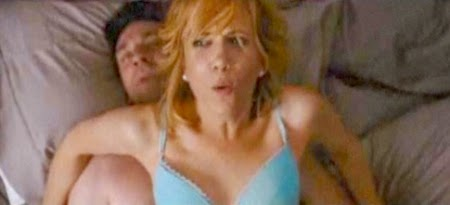 Kristen Wiig and Jon Hamm are out-of-sync in the bedroom in BRIDESMAIDS