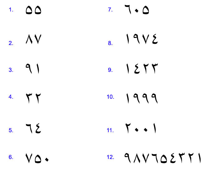 arabic numbers 1-1000 in words pdf