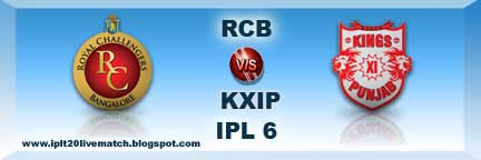 RCB vs KXIP Live Streaming Video and Highlight Match