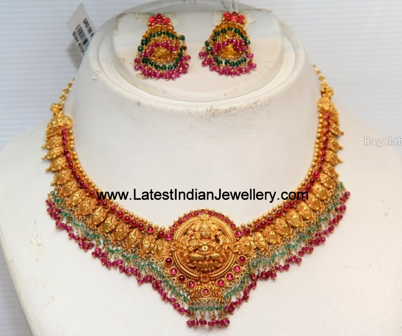 Temple Jewellery Gold Rubies