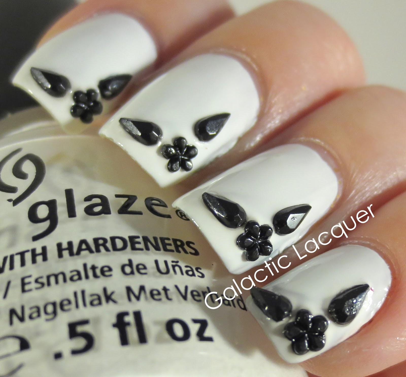 Galactic Lacquer Bw Nail Art Challenge Glam Cute