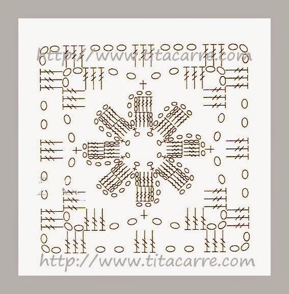 Tapete de Square de flores  Margaridas com pétalas dobradas grafico pattern