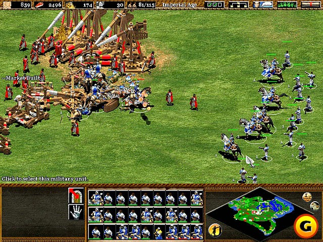 Blue Vs Red Age Of Empire