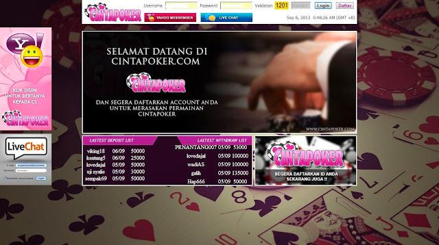 Daftar Poker Online Uang Asli cintapoker.com