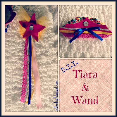 DIY princess tiara with wand felt