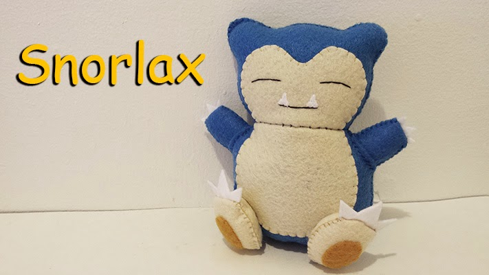 How to Make a Snorlax Pokemon plushie tutorial