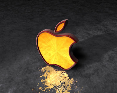 خلفيات سوداء - apple logo