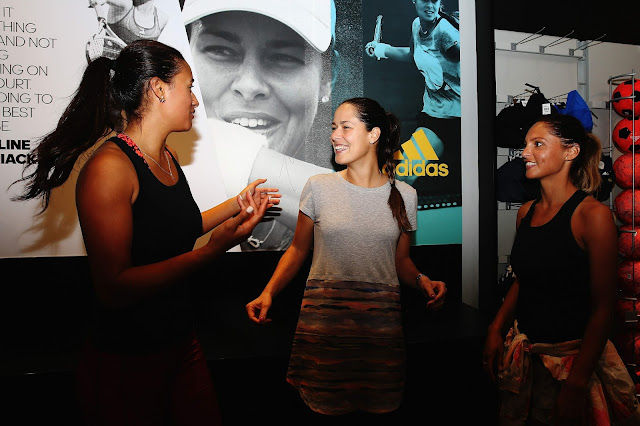Tennis Player, @ Ana Ivanovic arrive to take part in an exhibition tennis match
